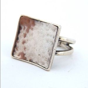 Silpada Retired Sterling Silver Hammered Ring